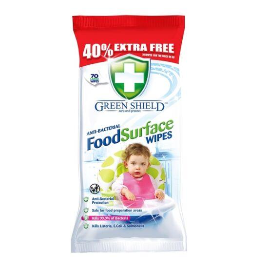 Green Shield Antibakteriális Nedves Tisztítókendő 70 db