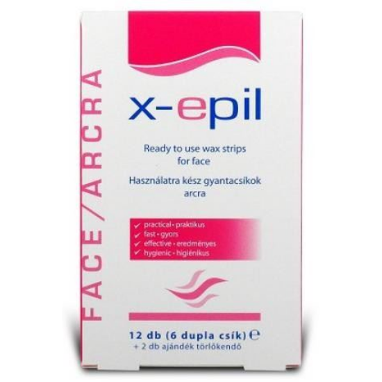 X-epil Használatra Kész Gyantacsíkok Testre 12 db (6db dupla csík)
