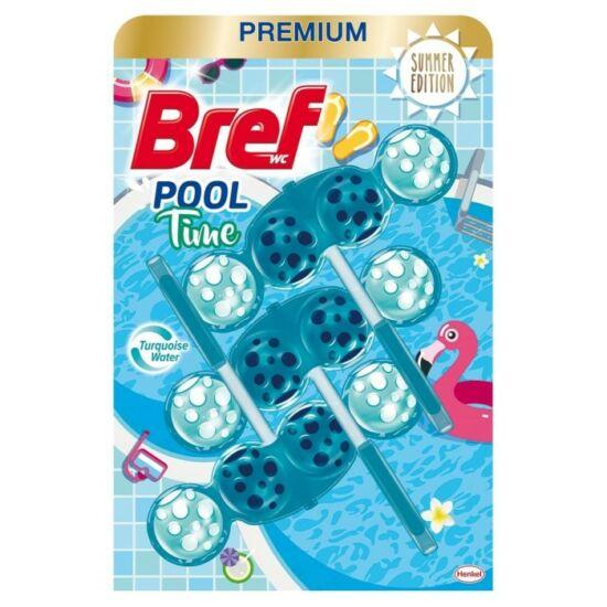 Bref Pool Time Wc tisztitó + illatosítő 3x50 g