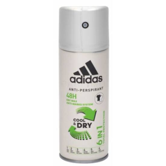 Adidas Anti Marks System Cool & Dry 6in1 Total Protection Spray 150 ml
