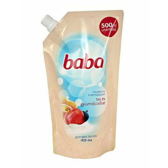 Baba Folyékony Szappan Utántöltő Tej- és gyümölcsillat 500 ml