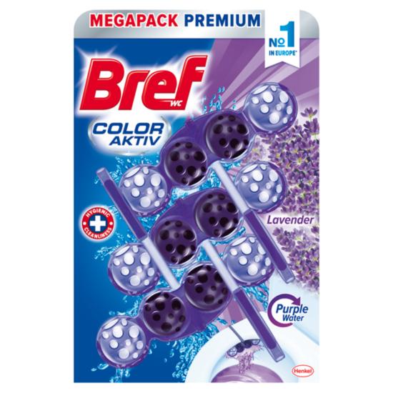 Bref Color Aktiv Levendula Wc Tisztító + illatosító 3x50 g