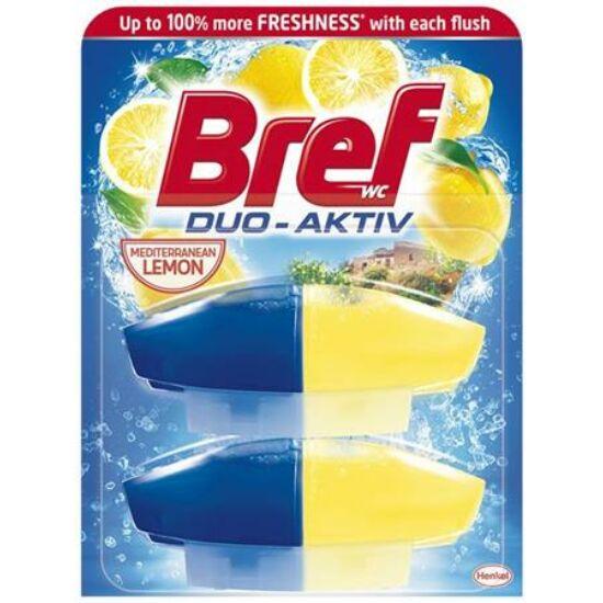 Bref Duo Aktiv Mediterranean Lemon Wc Frissítő Utántöltő 2x50 ml