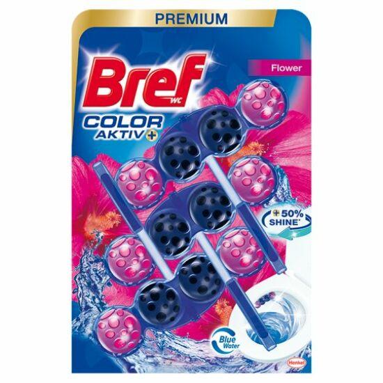 Bref Color Aktiv Flower Wc tisztitó + illatosító 3x50 g