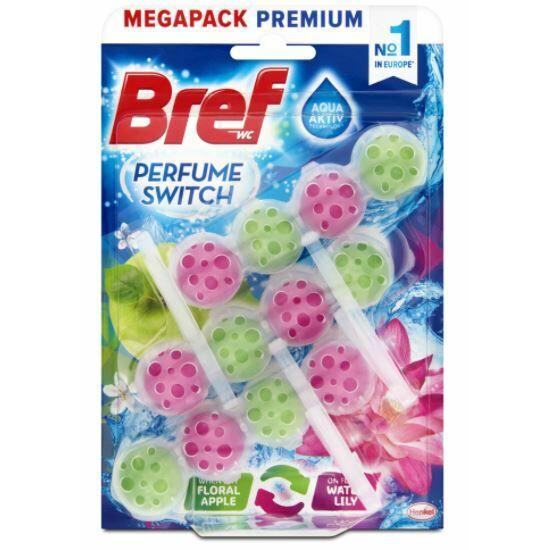 Bref Parfume Switch Floral Apple - Water Lily Wc Tisztító + Illatosító 3x50 g