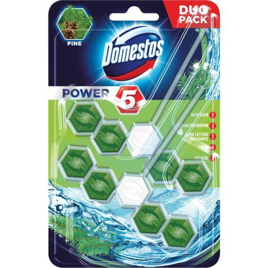 Domestos Power 5 Pine Wc Tisztító + Illatosító 2x55 g