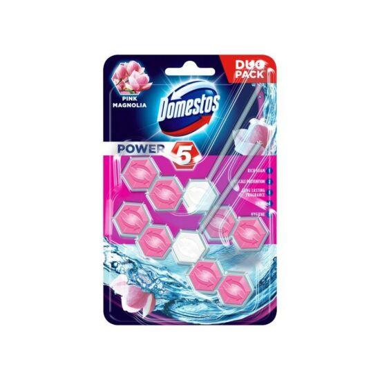 Domestos Power 5 Wc Tisztító + Illatosító Pink Magnolia 2x55 g