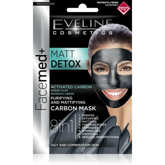 Eveline Cosmetics Facemed + Matt Detox Arcmaszk 2x5 ml