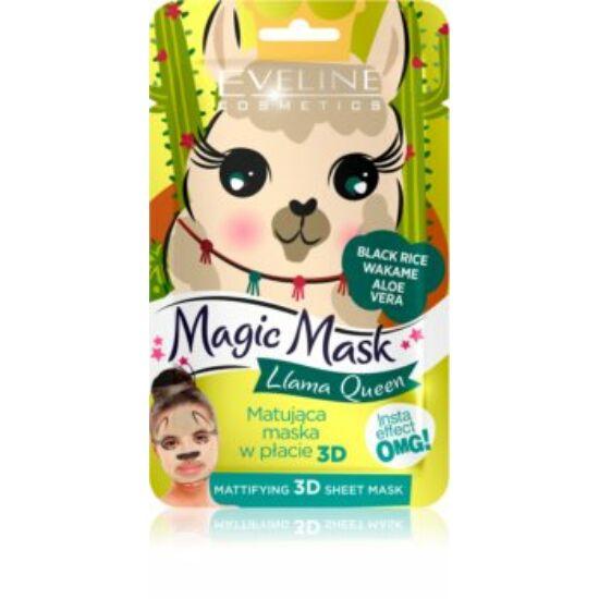 Eveline Cosmetics Magic Mask Lama Queen Mattító Szövetmaszk 1 db