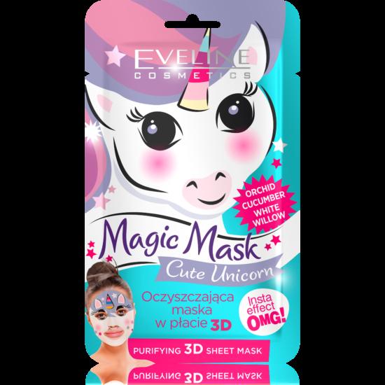 Eveline Cosmetics Magic Mask Cute Unicorn Tisztító Szövetmaszk 1 db