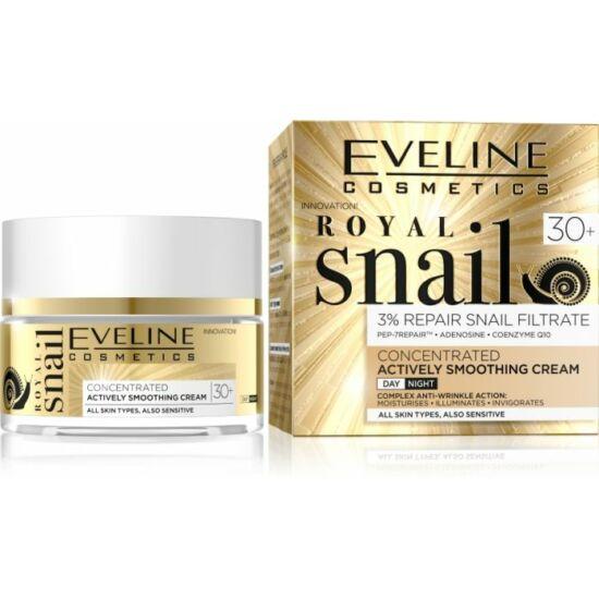 Eveline Cosmetics Royal Snail Actively Smoothing 30+ Nappali és Éjszakai Arckrém 50 ml