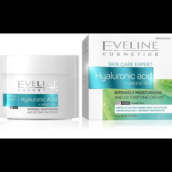 Eveline Cosmetics Hyaluronic Acid + Green Tea Nappali és Éjszakai Arckrém 50 ml