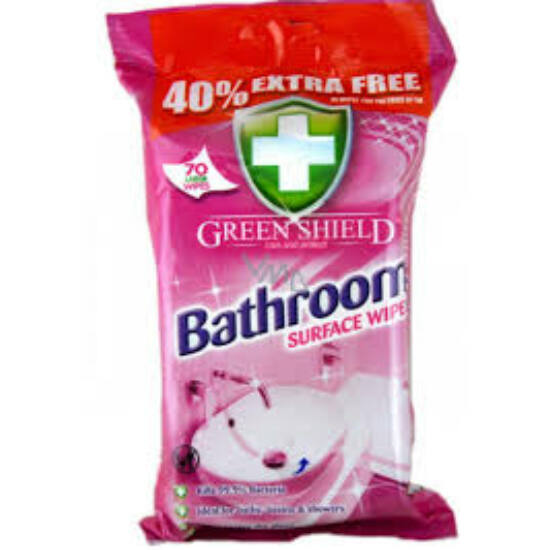 Green Shield Nedves Törlőkendő Fürdőszoba 70 db