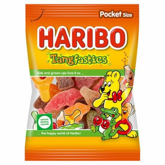 Haribo Tangfastics Gyümölcsízű Gumicukor Részben Kóla Ízesítéssel 100 g