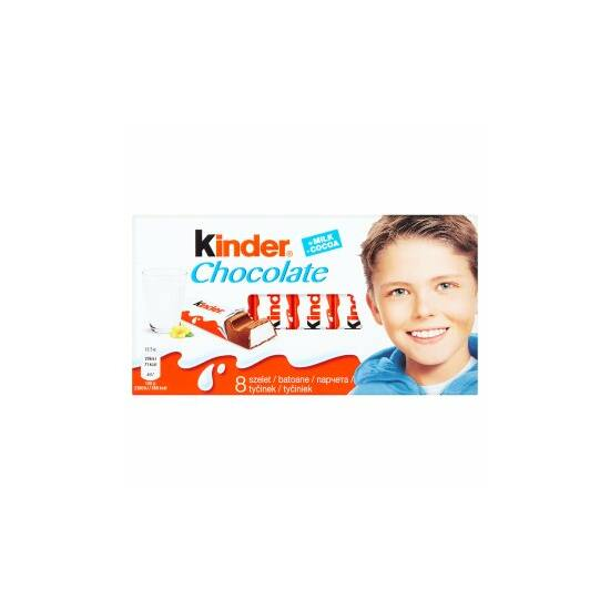 Kinder Tejcsokoládé Tejes Krémmel Töltve 8 db 100 g