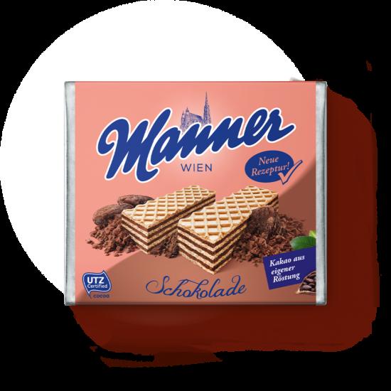 Manner Csokoládékrémmel Töltött Ropogós Ostyaszeletek 75 g
