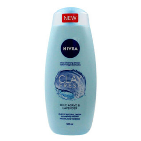 Nivea Clay Fresh Blue Agave & Lavender Tusfürdő 500 ml
