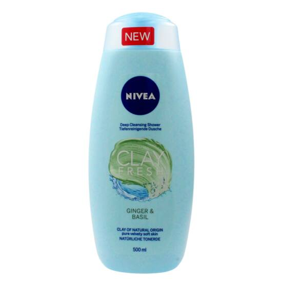 Nivea Clay Fresh Ginger & Basil Tusfürdő 500 ml