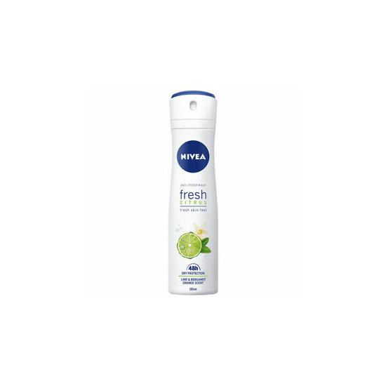 Nivea Fresh Citrus Lime & Bergamot Orange Scent Spray 150 ml