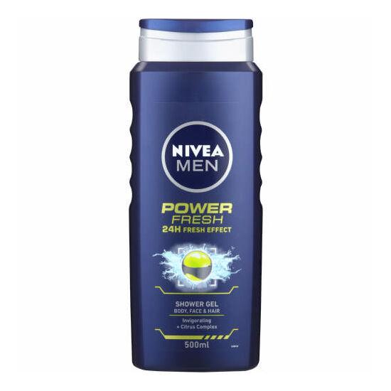 Nivea Men Power Fresh 24H Fresh Effect Tusfürdő 500 ml