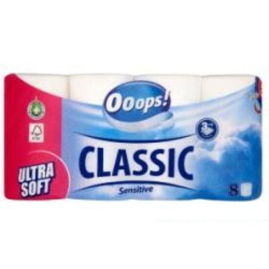Ooops Classic Sensitive Wc Papír 3 réteg 8 tekercs