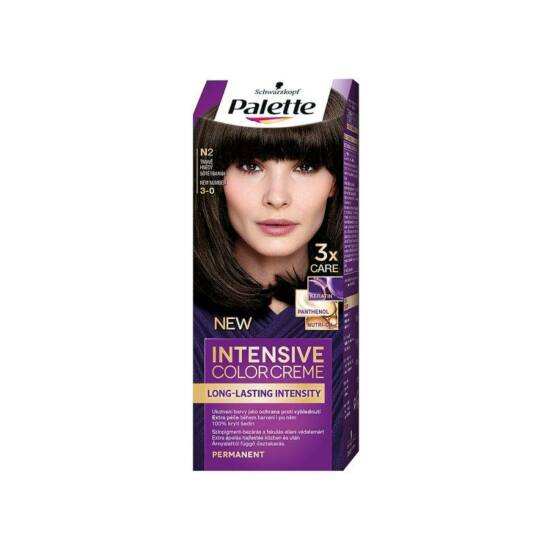 Schwarzkopf Palette Intesive Color Creme Hajfesték N2 Sötétbarna 1 db