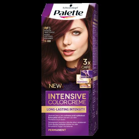 Schwarzkopf Palette Intesive Color Creme Hajfesték RF3 4-88 Intenzív Sötétvörös
