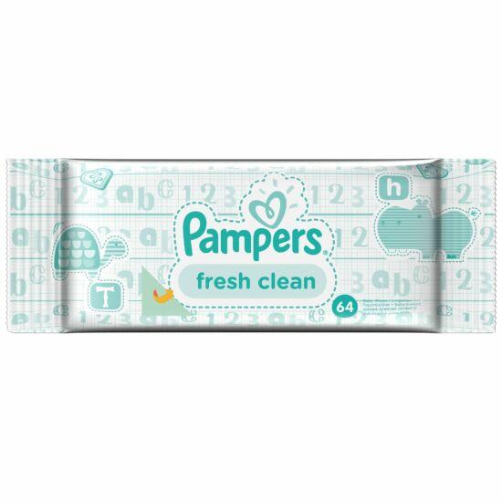 Pampers Fresh Clean Popsitörlő 64 db