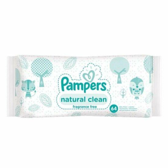 Pampers Natural Clean Popsitörlő 64 db