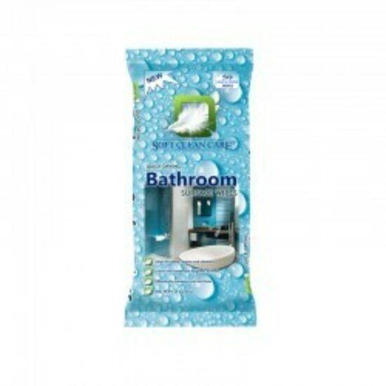 Soft Clean Care Nedves Fürdőszobai Tisztítókendő 50 db